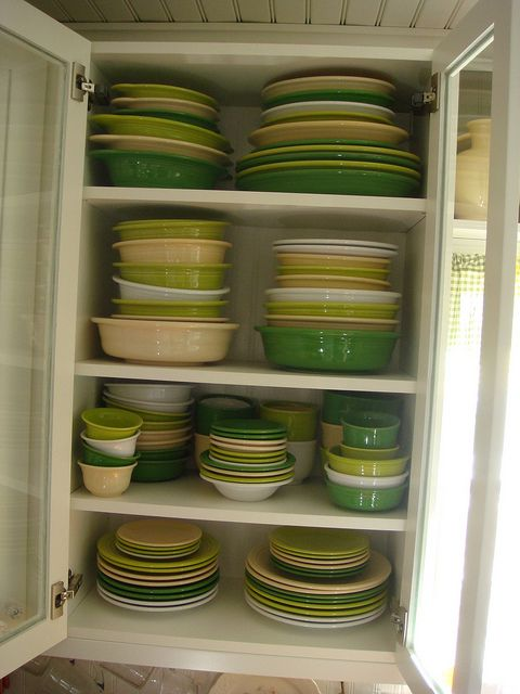 Shades of green and white - Fiestaware
