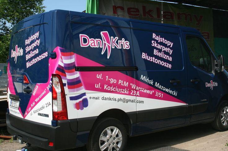 Pracownia reklamy A-REK Mińsk Mazowiecki tel. 607 221 399 - Oklejanie samochodów, reklama na samochodach, oznakowanie aut, projektowanie, grafika reklamowa, napisy na samochodach: reklamy-arek.pl