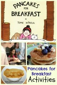 Activities, recipes, and printables to use with the book Pancakes for Breakfast by Tomie DePaola.