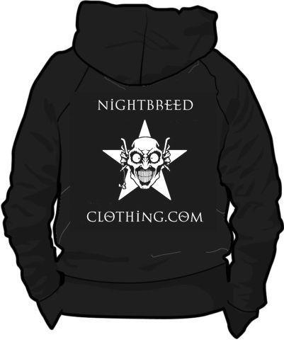Black Gothic Nightbreed Long Sleeved Hoodie Unisex