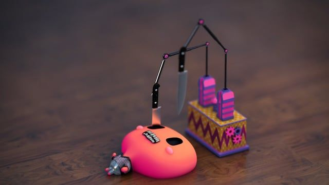 Tiny Torture Machines paired up with hyper double speed disco jams.  Warning: Violently Cute (◡‿◡✿)