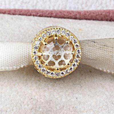 Fit Pandora Charms Ursprüngliche Silber 925 Gold Kristall Korne für Armband Anhänger Schmuck