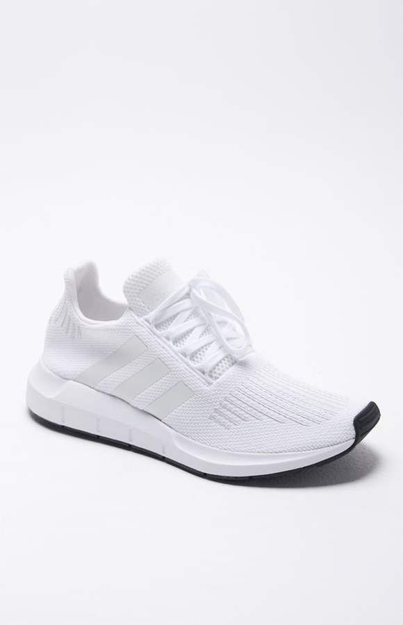 Match With Every Outfit And Be Comfortable Too Adidas Swift Run White Shoes Adidas White Shoes Adidas Outfit Shoes All White Shoes