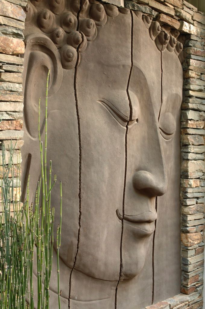 Carved Buddha door ..rh