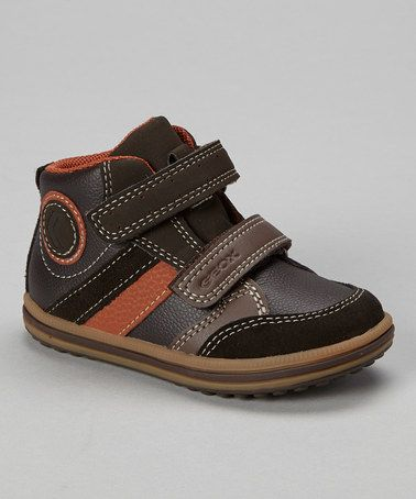 This Brown & Orange B Vita Hi-Top Sneaker is perfect! #zulilyfinds