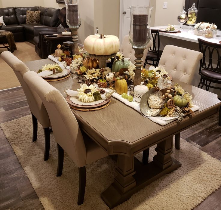 My Fall Tablescape in 2020 Fall tablescapes, Teal front