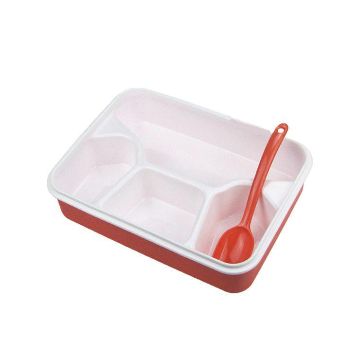 4 отсек обед коробка с ложкой контейнеры для хранения продуктов питания современный Ecofriendly открытый портативный микроволновая коробка купить на AliExpress