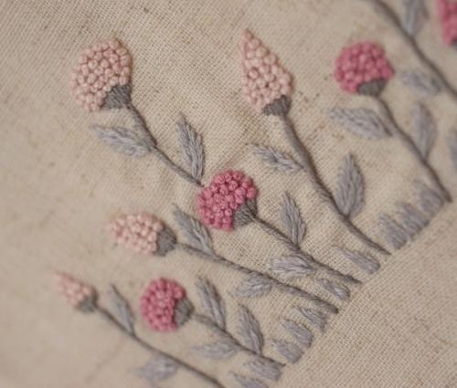 ピンク小花