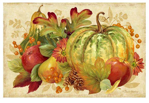Harvest Bounty Rectangle <br> For Licensing Only <br> Pamela Gladding