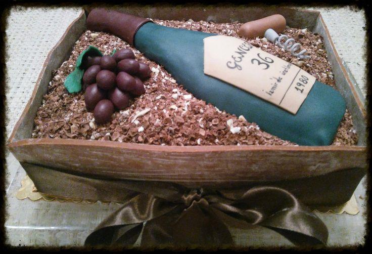 Şarap Şişesi pasta
