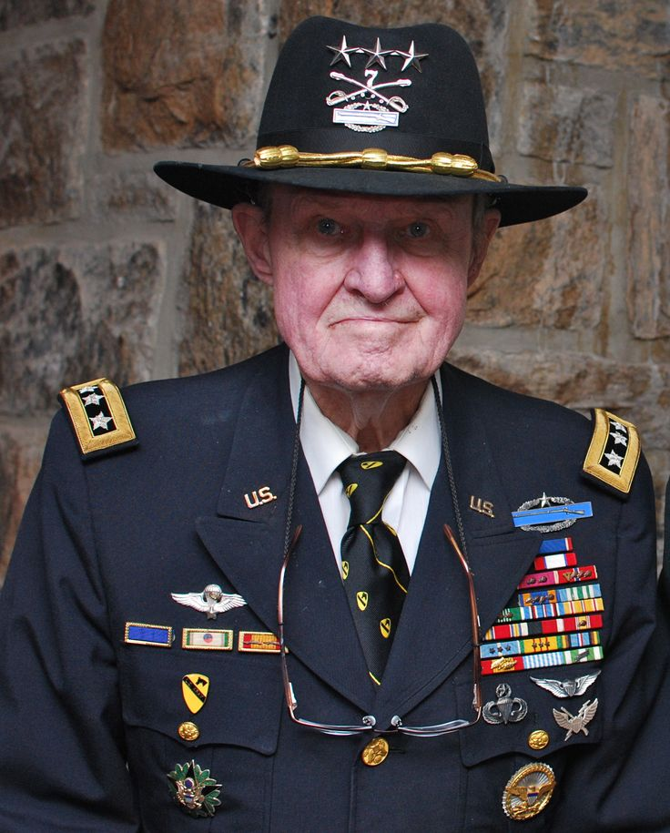 "Lt General Hal Moore, who was Lieutenant Colonel in command of the 1st Battalion, 7th Cavalry Regiment, at the Battle of Ia Drang best known publically for the movie ""We were Soldiers""  As he is the REAL Deal portrayed by Mel Gibson"