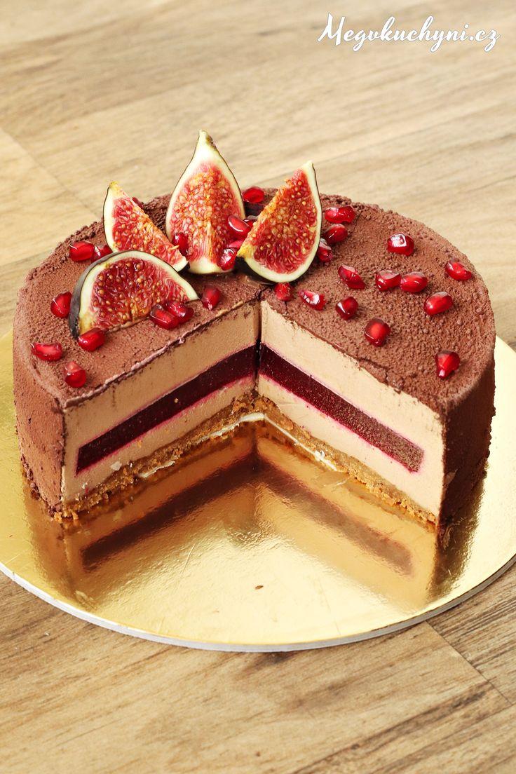 Pěnový dort z mléčné čokolády s ovocným želé - Powered by @ultimaterecipe