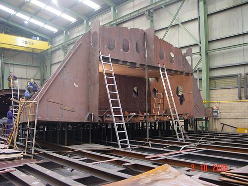 Manufacturing for Zamakona Shipyards - Block - stern