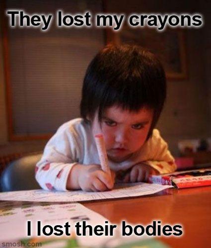 Children always look evil!