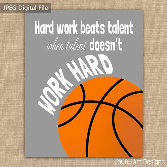 Motivating Basketball Quote PRINTABLE Signs. Sports Decor. Basketball Sign. Children's Wall Art. Boy Bedroom Decor. DIGITAL file.