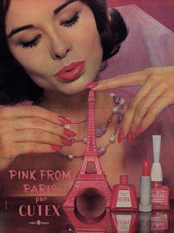 50s publicidad vintage esmalte de uñas Cutex