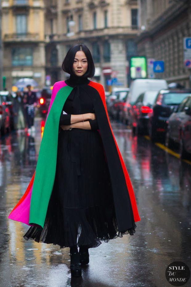 Yoyo Cao Street Style Street Fashion Streetsnaps by STYLEDUMONDE Street Style Fashion Photography