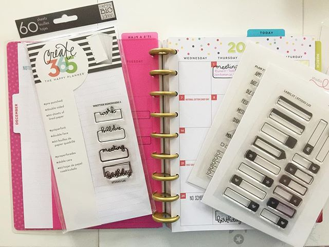 I get so much more done when organized but I realized my planner wasn't working for me. I had a 50% off coupon at Michael's so I treated myself to a #mambi #happyplanner! The bright colors and open layout cheer me up and make it easy to organize myself. Picked up a few #studiol2e planner stamps too and #december is coming together! ✨#iloveplanning #plannergirl #organized #meandmybigideas #create365 #thehappyplanner #craftyinconnecticut @meandmybigideas @studio_l2e