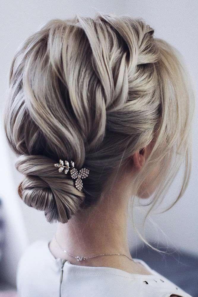 30 Cute Braided Hairstyles For Short Hair In 2020 Short Hair Bun Cute Braided Hairstyles Thick Hair Styles