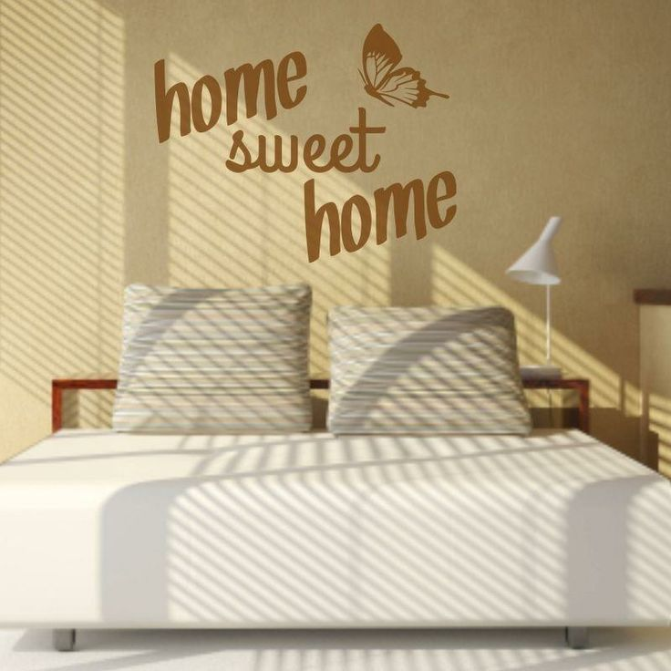 Naklejka - Home sweet home | Decorative sticker - Home sweet home | 29,49 PLN #wall_decal #sticker #home_sweet_home #pattern #home_decor #interior_decor