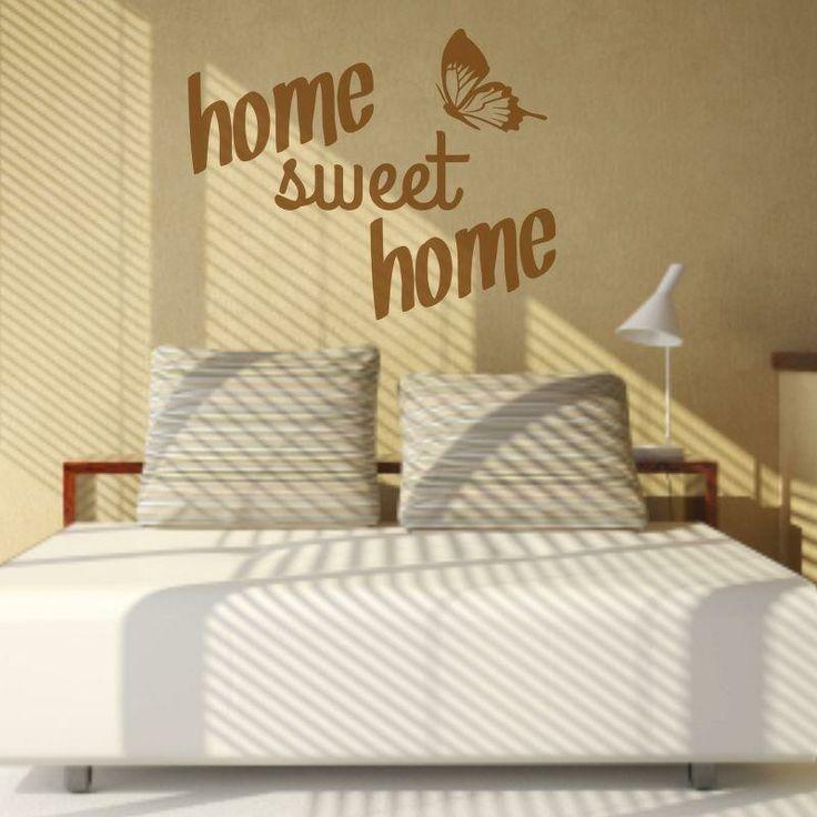 Naklejka - Home sweet home   Decorative sticker - Home sweet home   29,49 PLN #wall_decal #sticker #home_sweet_home #pattern #home_decor #interior_decor