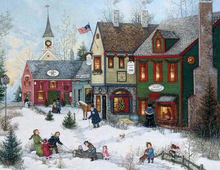 Cobblestone Holidays Christmas Cards , 1004658 | Lang