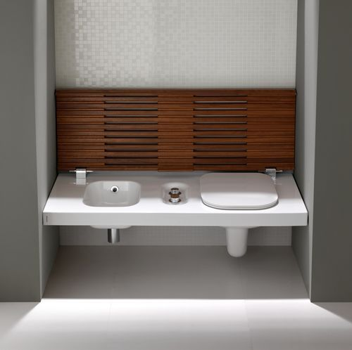 Indoor bench / contemporary / wood / with integrated toilet and bidet YXFW HATRIA srl