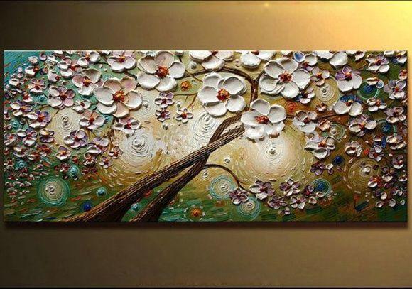 Pintura Em Tela árvore flores OFERTA