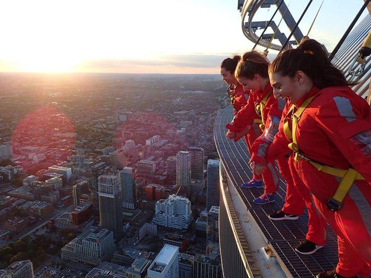 living on the edge! Edge Walk at the CN Tower, Toronto