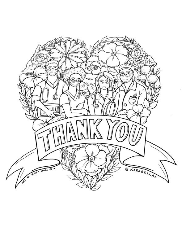 Color Our Free Nurse Coloring Page And Free Doctor Coloring Page Give Thanks To Healthcare Workers Free Coloring Pages Coloring Pages Pokemon Coloring Pages