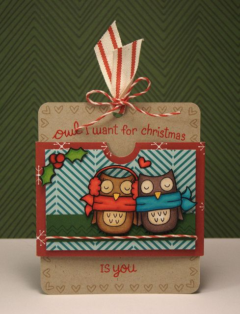 Winter Owl Slider card - 1 by yainea, via Flickr