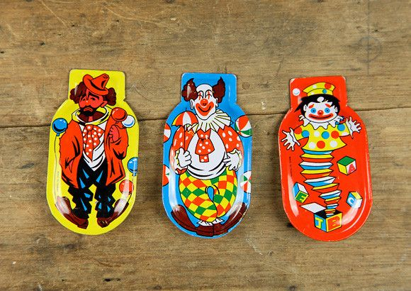 Vintage Clown Clickers  - the perfect #toy to annoy any parent :)