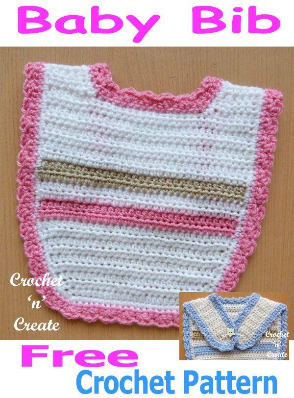 Baby Bib A Free Crochet Pattern Crochet Pinterest Crochet