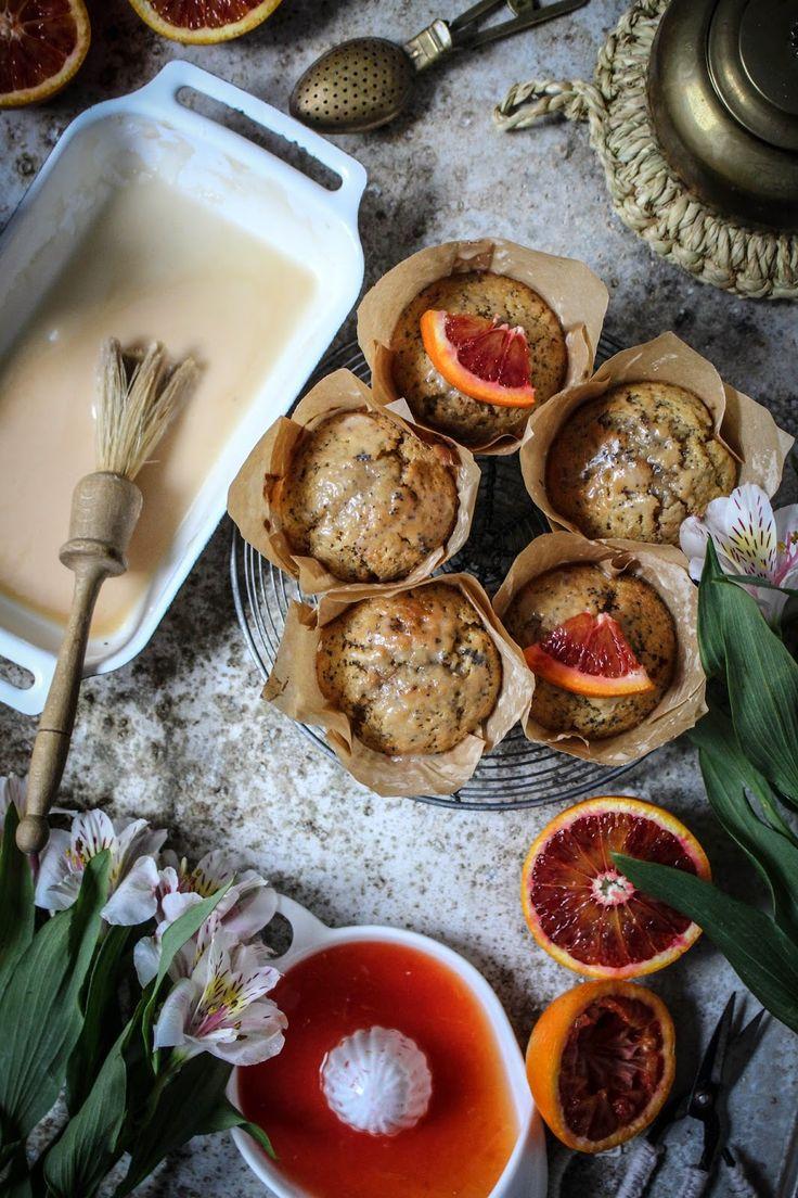 twiggstudios: blood orange poppy seed muffins with earl grey tea glaze