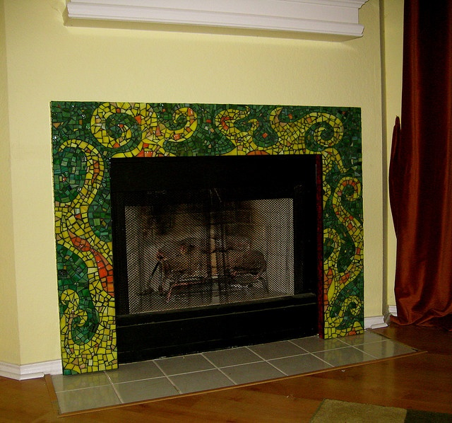 17 Best Images About Mosaic Fireplaces On Pinterest