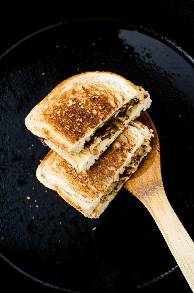 Grilled Hummus and Caramelized Onion Sandwich by katyskitchen.ca