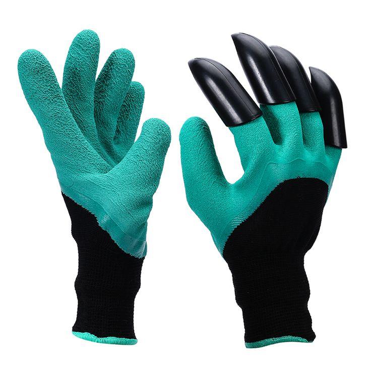 Tuin Werk Groene Latex Handschoenen ABS Plastic Labor Handschoenen Voor Graven & Aanplant Unisex Cut Slip Nitril