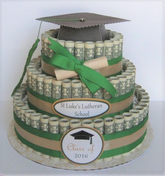 Need an idea for your teen graduate or for a Christmas gift idea? This Graduation money cake will be a perfect idea.