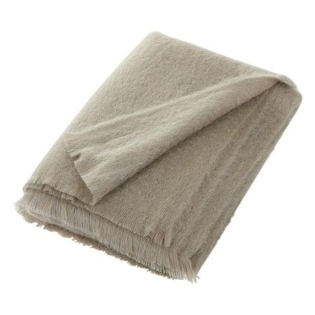 Bronte by Moon - Mohair Throw - Squirrel Grey