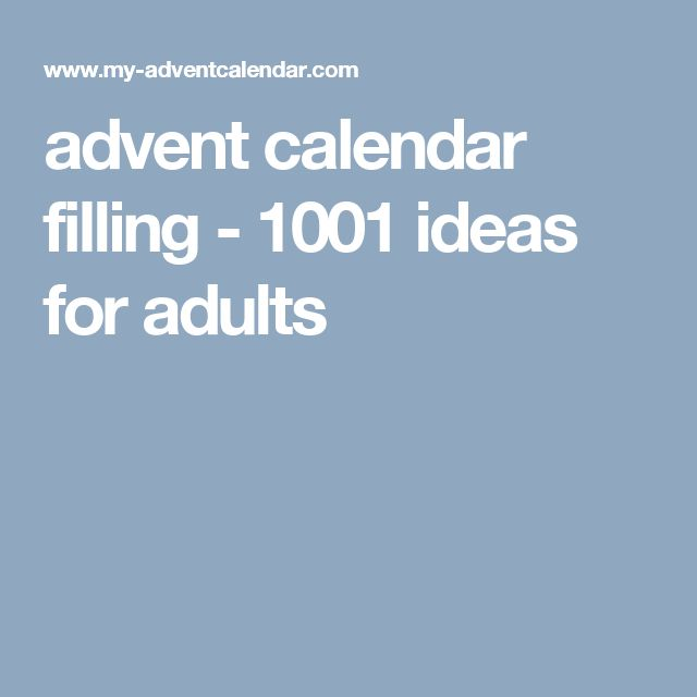 advent calendar filling - 1001 ideas for adults