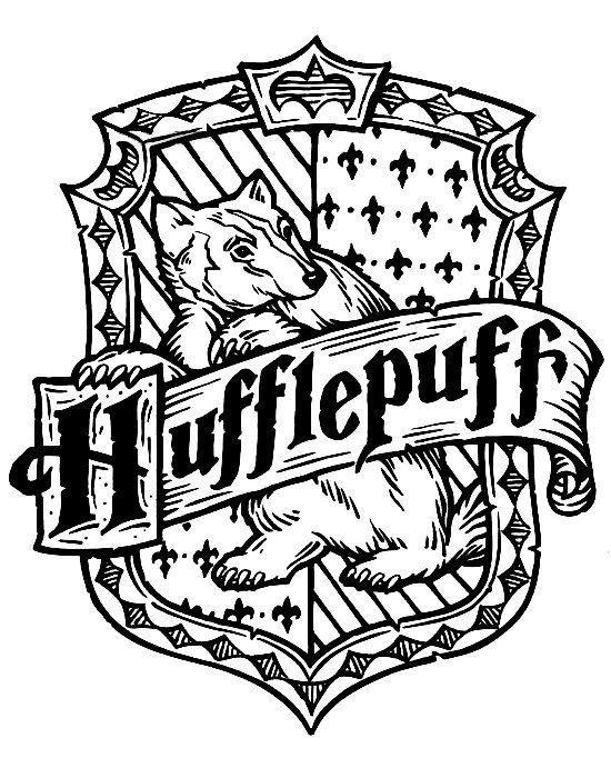 harry potter badge coloring pages | Harry Potter Hogwarts Hufflepuff Crest DIY | Harry Potter ...