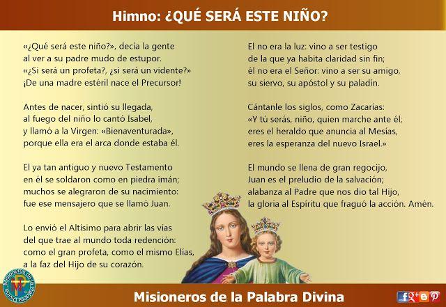 MISIONEROS DE LA PALABRA DIVINA: HIMNO LAUDES -  ¿QUÉ SERÁ ESTE NIÑO?
