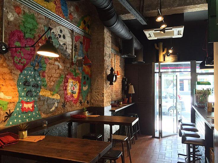 pikio taco restaurante mexicano barcelona - Beaded Inset Restaurant Interior