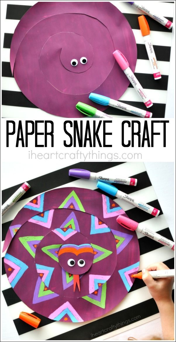 This painted paper snake craft for kids is a fabulous open ended craft where children will have fun designing a one-of-a-kind snake. Fun summer kids craft.