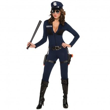 Womens Jumpsuit Police Costume