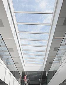 VELUX Lichtband Glasdach Modulares Oberlichtsystem