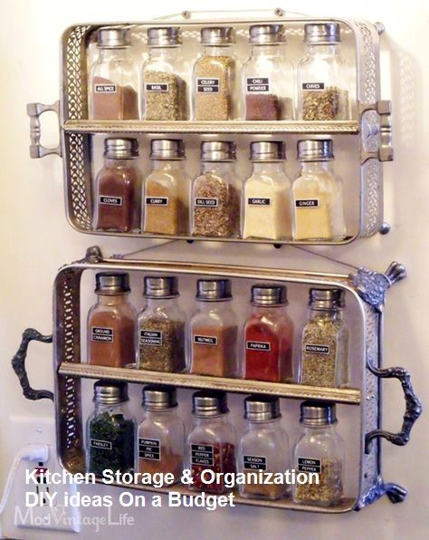 Stylish Spice Storage Ideas For Your Wonderful Kitchen #smallkitchen
