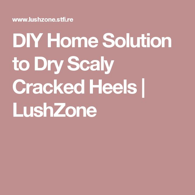 DIY Home Solution to Dry Scaly Cracked Heels | LushZone