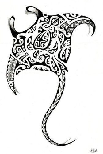 Diseño Tatuaje Manta Raya Polinesia 2012