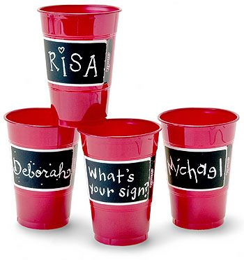 What a great way to keep track of your cup. These would be great for a backyard bbq or a rehearsal dinner.